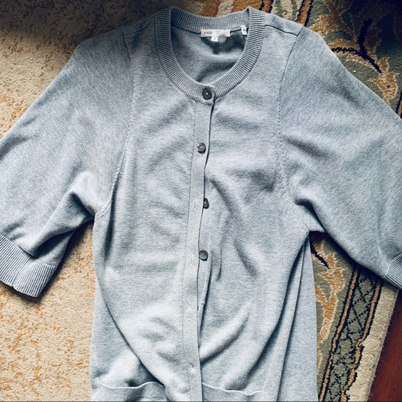 Vince Grey Button Up Cardigan
